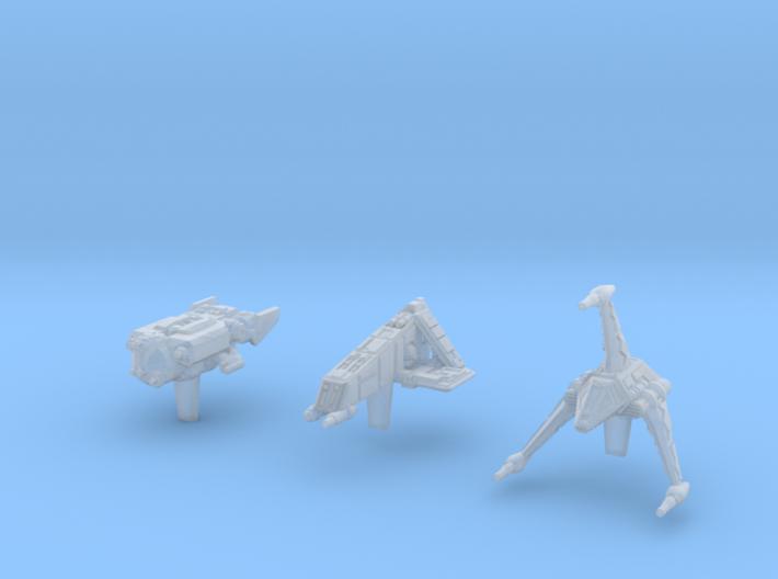 (Armada) Civilian Gunships Set I 3d printed