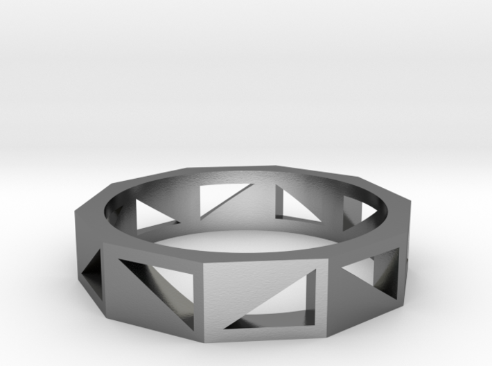 Triangle Pattern Ring 3d printed