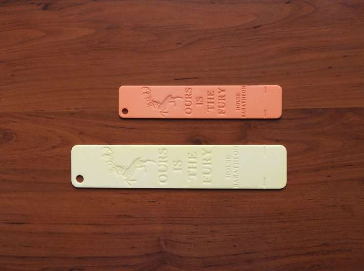 Baratheon Bookmark 3d printed