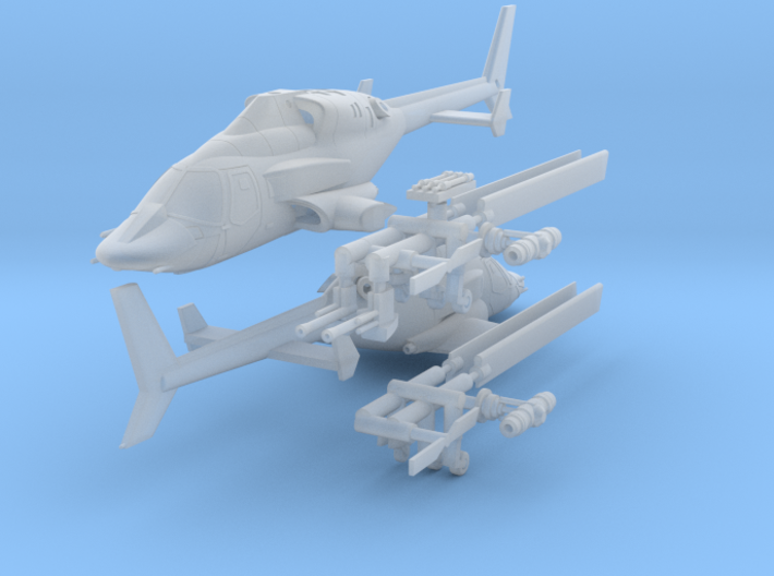 030D Modified Bell 222 Pair - 1/144 3d printed