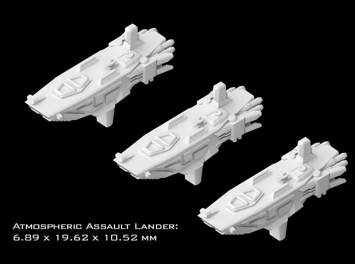 (Armada) 3x Atmospheric Assault Lander 3d printed