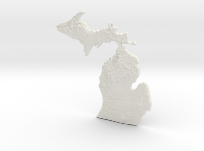 Michigan Christmas Ornament 3d printed