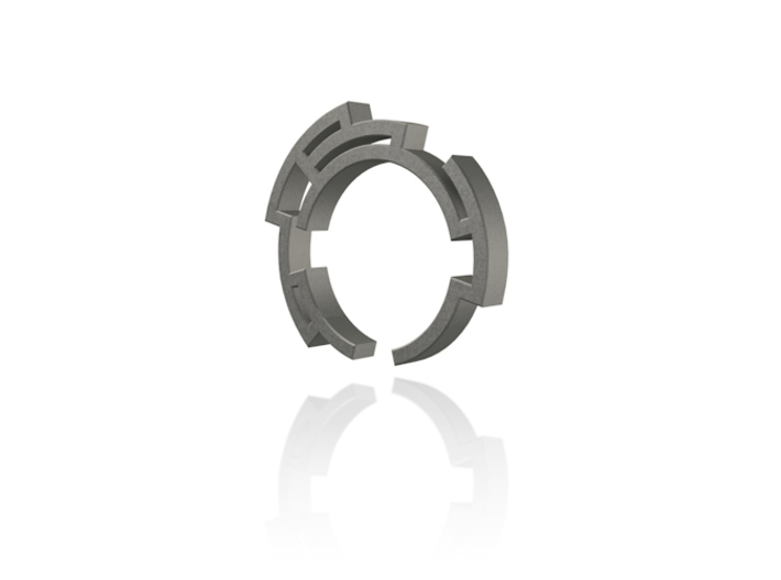 Way out ring - Size 6.75 3d printed Render
