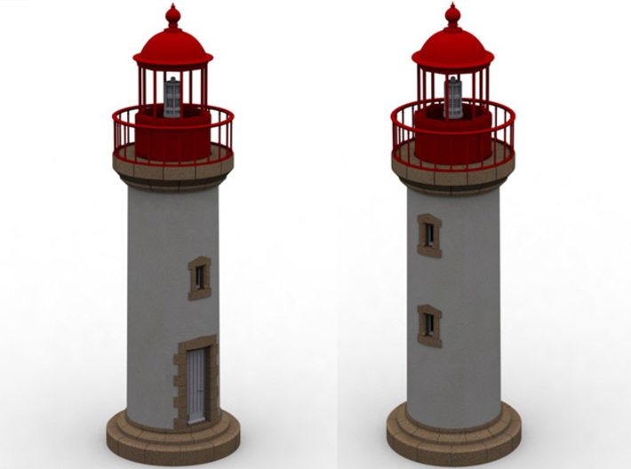 Opb10b - Small brittany lighthouse 3d printed