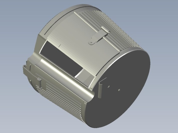 1/4 scale WWII Wehrmacht MG-42 drum magazines x 2 3d printed