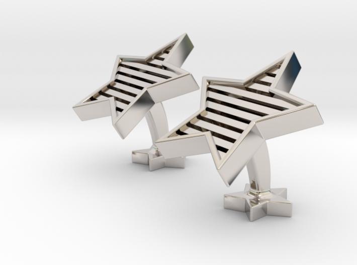 Star cufflinks 3d printed stars and stripes cufflinks