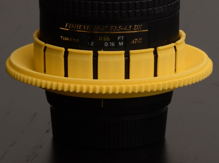 Nauticam Zoom Gear for Tokina AT-X 107 AF DX Fishe 3d printed