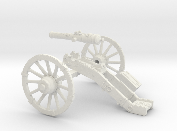 AF 7 Years War French cannon 4 Pounder short 28mm 3d printed