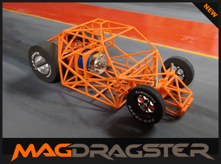 MagDragster V2 - Golf MK1 Chassis - RC Car 1/24 3d printed