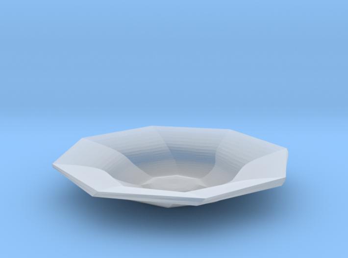 Sharp edges plate 3d printed