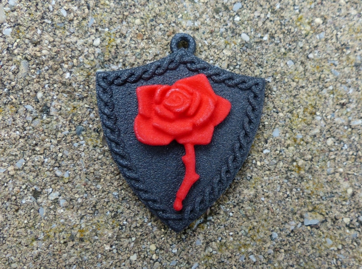 Bleeding Rose Shield - Piece 2 of 2 3d printed Rose only