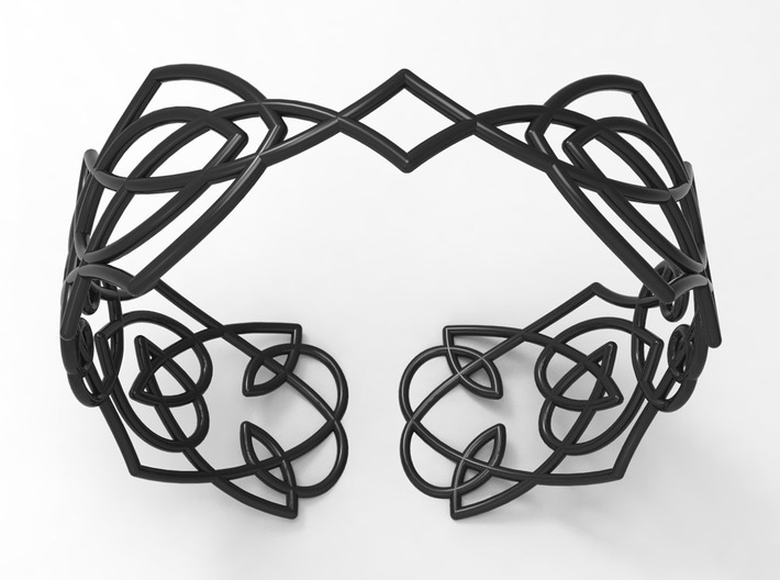 Celtic knots Cuff 4 3d printed
