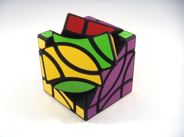 4 Corners Cube Puzzle 3d printed Type B 3rd Turn