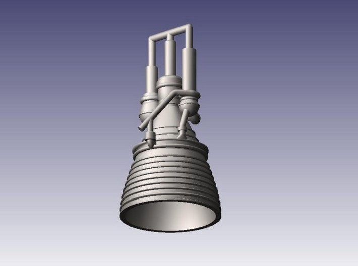 J-2 Engine (1:144) for Saturn IB or V 3d printed
