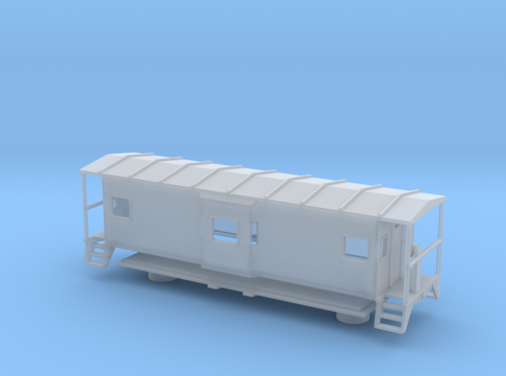 Bay Window Caboose - Zscale 3d printed