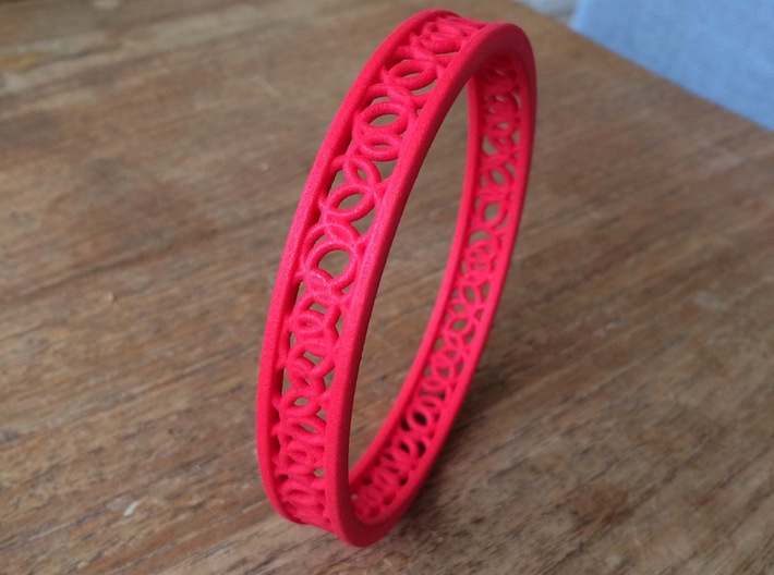 ArmbandRondSmall 3d printed coral red
