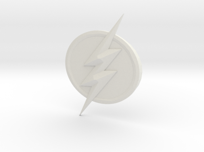 The Flash Emblem 3d printed