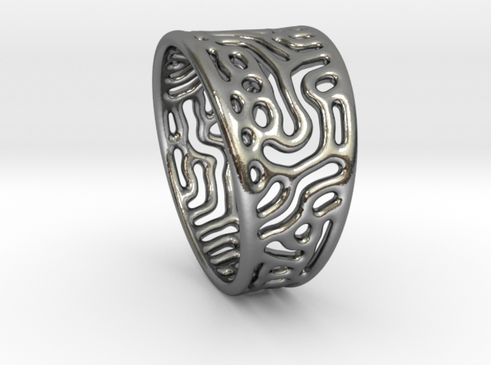 Reaction Diffusion Ring  3d printed