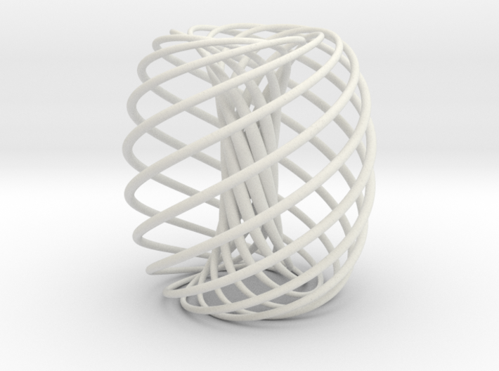Curves on a donut 3d printed