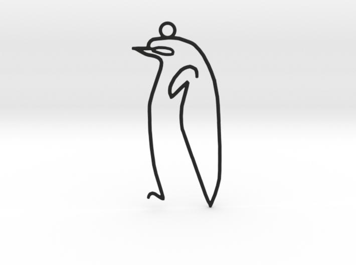 Picasso's sketch - Penguin Pendant 3d printed
