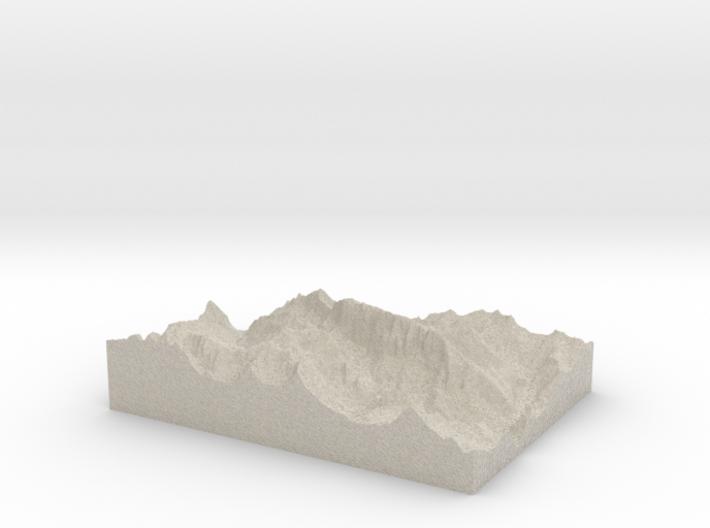 Model of La Marmolada (Punta Penia) 3d printed