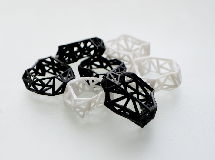 Triangulated Ring     3d printed