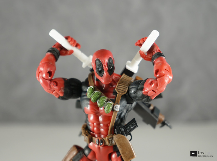 1:12 Katana for Marvel Legends Deadpool (pair) 3d printed