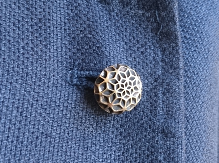 Flora Lapel Pin 3d printed The shown product has had patina applied
