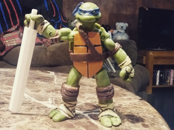 Genericon Broad Sword 3d printed This product with tmnt figures.