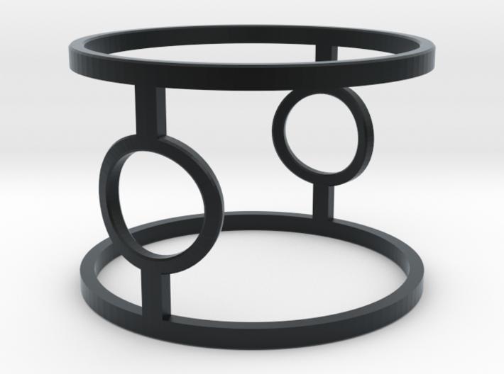 Minimalist Tie Fighter Ring 3d printed