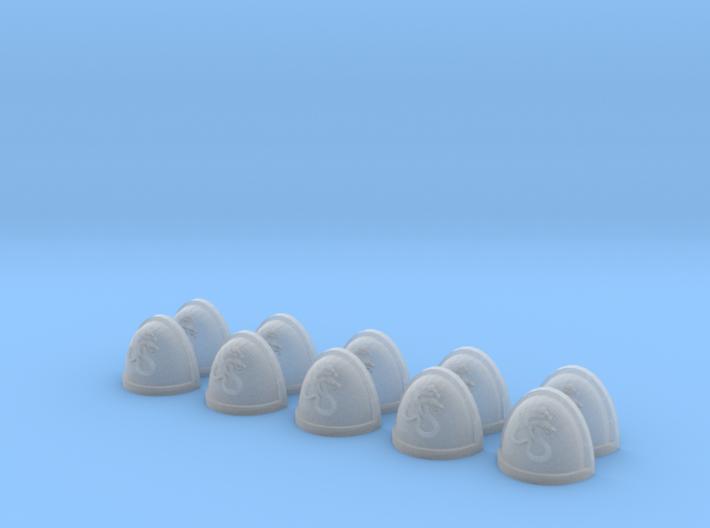 10 Shoulder Pads Two-Headed Snake 3d printed