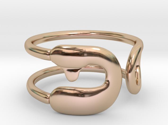 Safety Pin Ring 3d printed