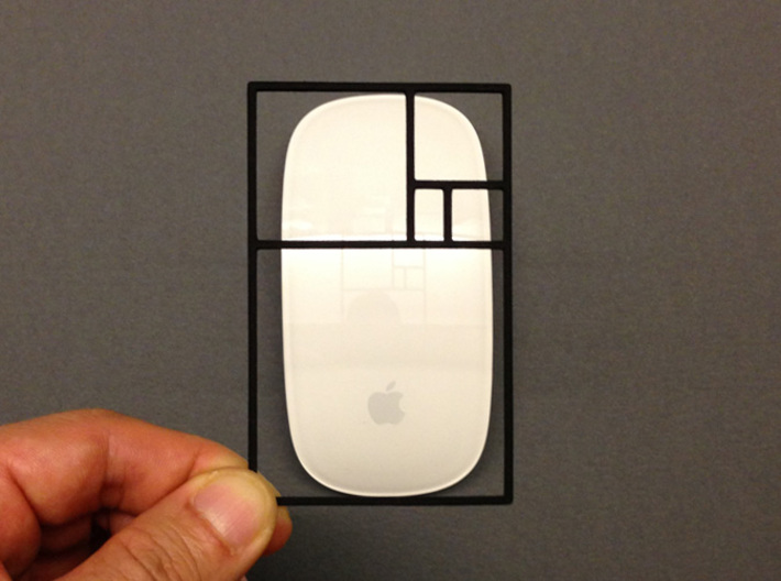 The Golden Rectangle 3d printed Is this apple mouse in a golden ratio? It's very close, but not absolutely there.