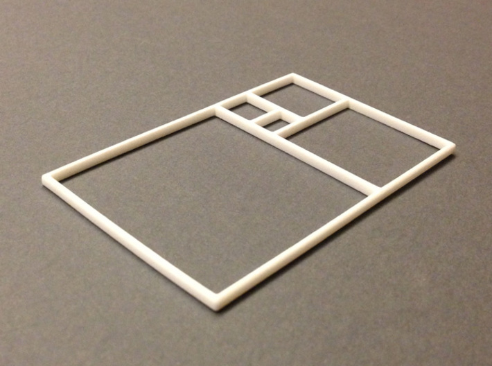 The Golden Rectangle 3d printed Golden Rectangle