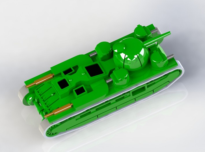 Independent & TOG Heavy Tanks 1/285 6mm 3d printed