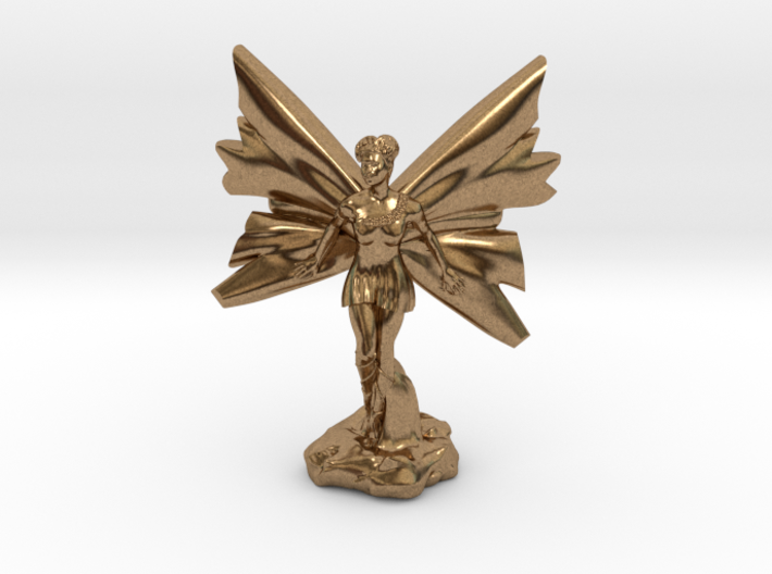Fairy with large wings, in flight 30mm scale 3d printed