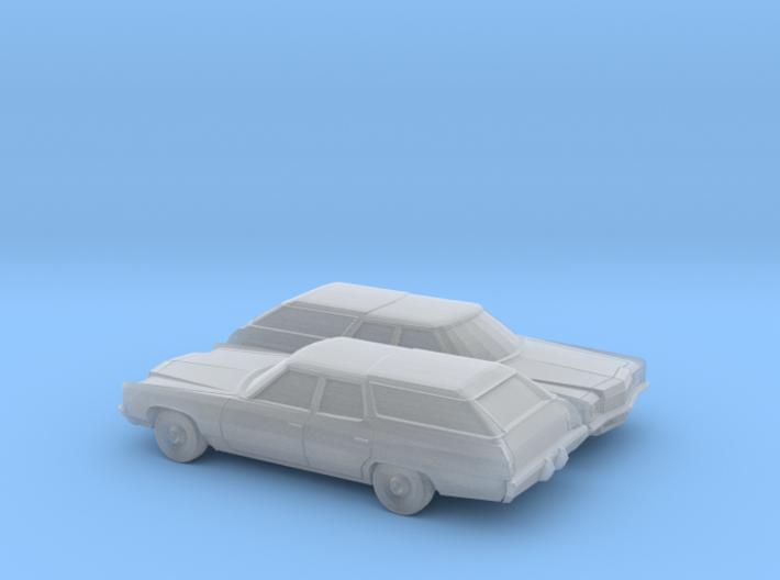 1/160 2X 1971 Chevrolet Impala Station Wagon 3d printed