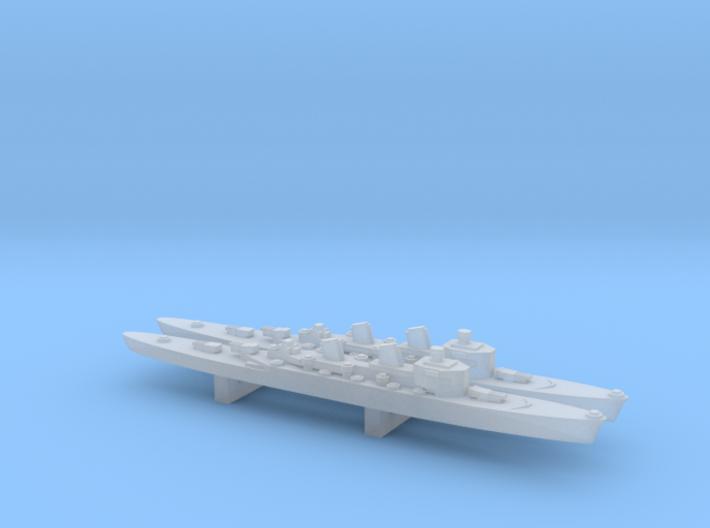 Tre Kronor-class cruiser x 2, 1/6000 3d printed