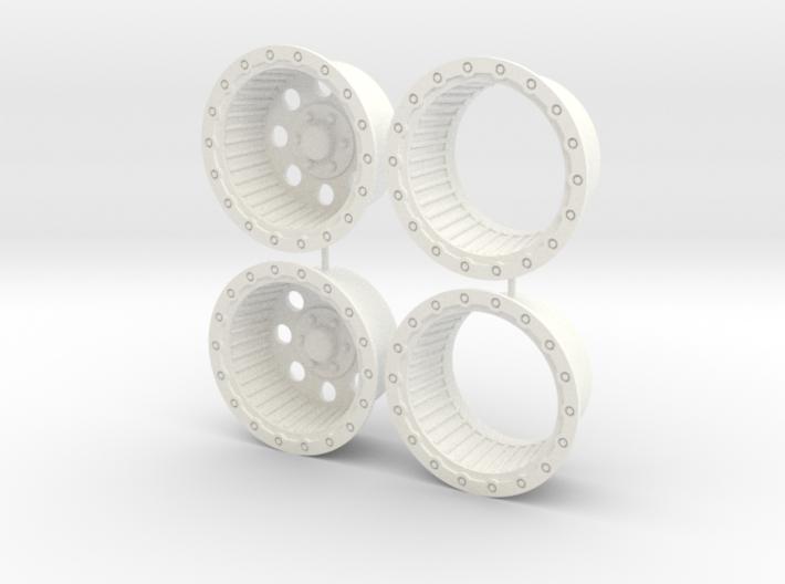 16.5 4x4 rims 1/12 3d printed