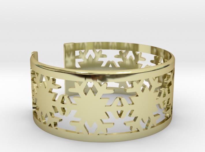 Snowflake Bracelet Large 3d printed