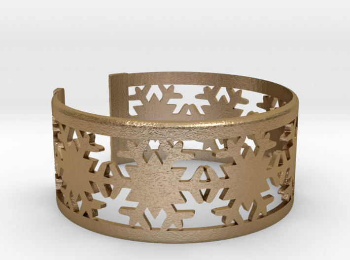 Snowflake Bracelet Small GOOD 3d printed