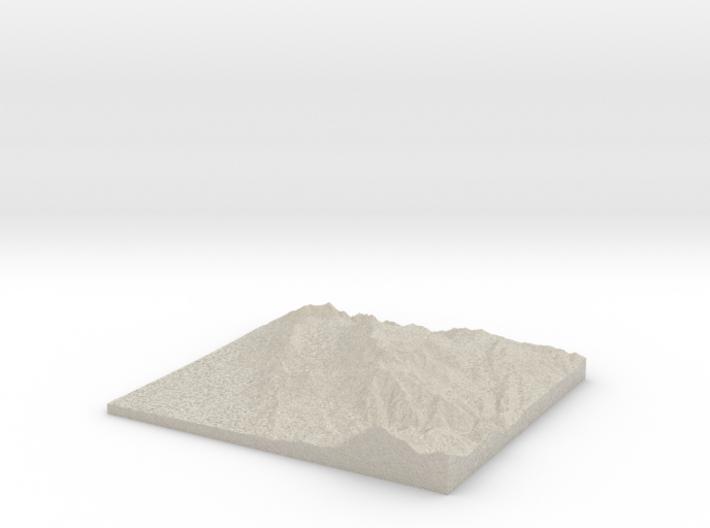 Model of Mt. Timpanogos Summit 3d printed