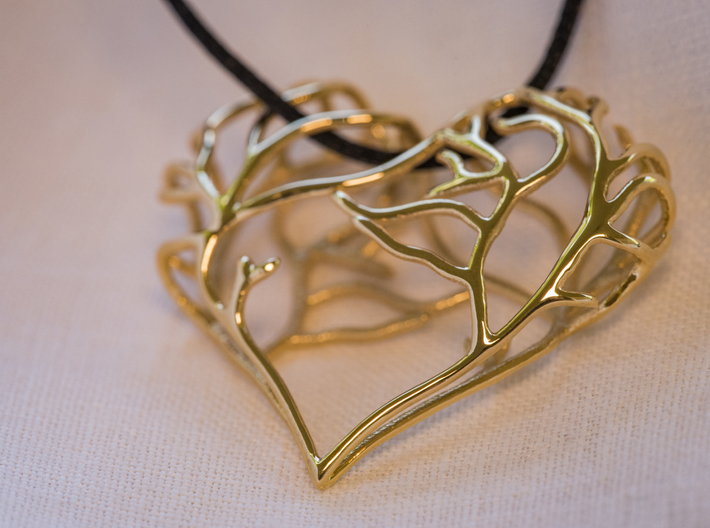 Complicated Passion 3d printed 18K Gold plated