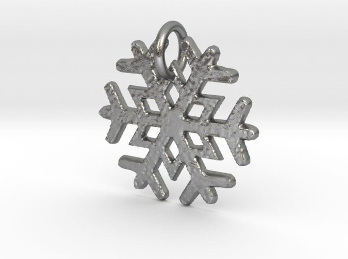 Snowflake Pendant B 3d printed