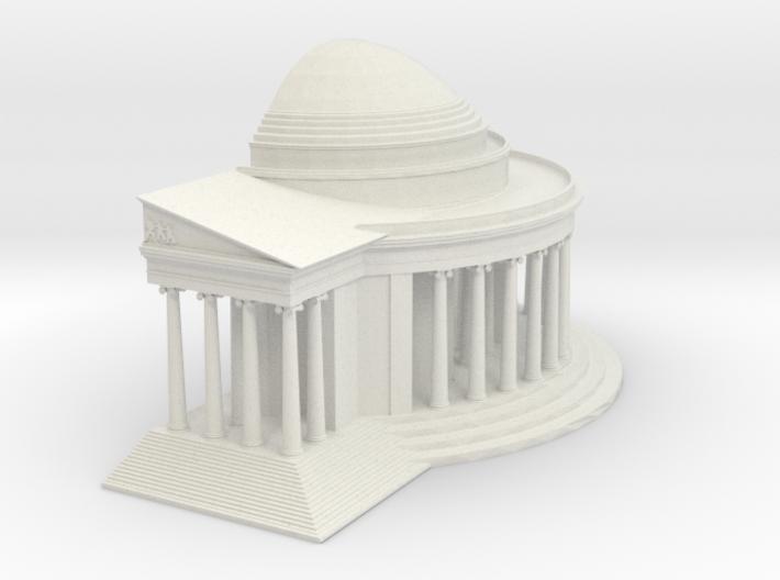 Jefferson Memorial Model 1 Half Small 3d printed
