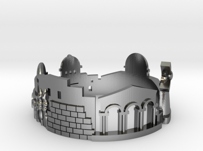 Jerusalem Skyline - Cityscape Ring 3d printed