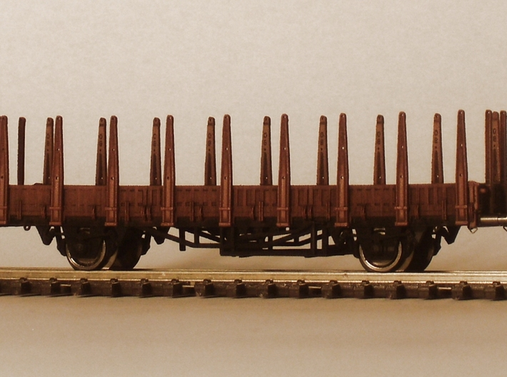 2151 1/148 German train-ferry wagon, 40t-glw low 3d printed painted model with additional parts