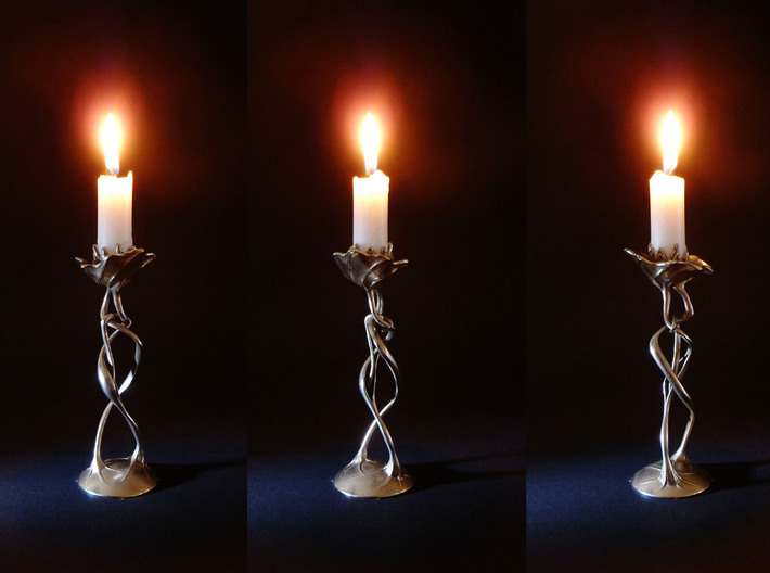 "candle holder ""Lovers"" 3d printed candle holder ""Lovers"" , 3D printed in steel"