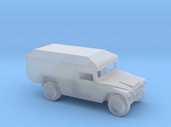 1/100 Scale Humvee Mini Ambulance M996 3d printed