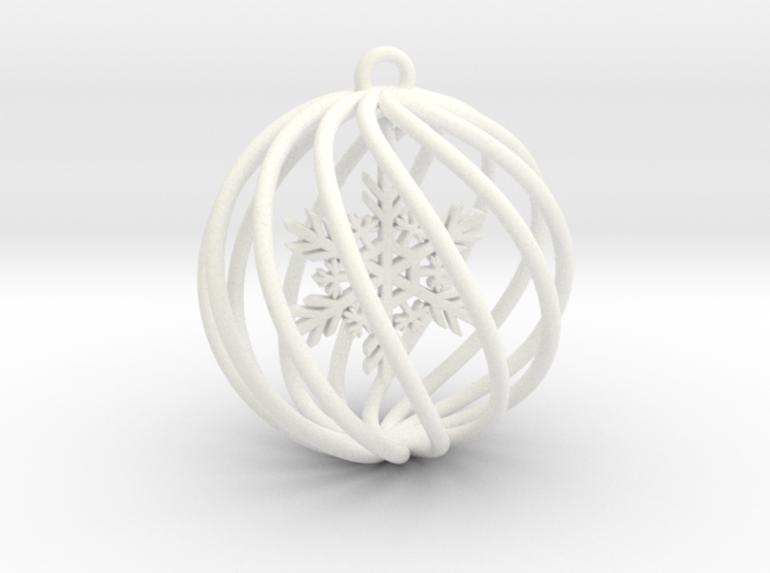 Snowflake Bauble small 3d printed